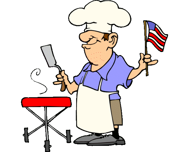 Funny Patriotic Barbecue Guy Free 4th Of July Clipart Image Click For