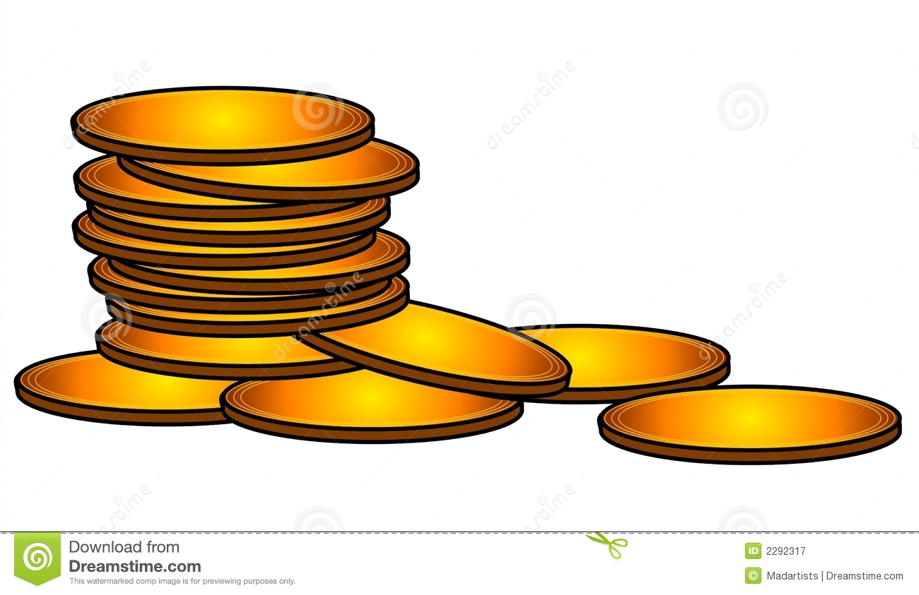 Gold Coins Cash Money Clip Art Royalty Free Stock Photography   Image