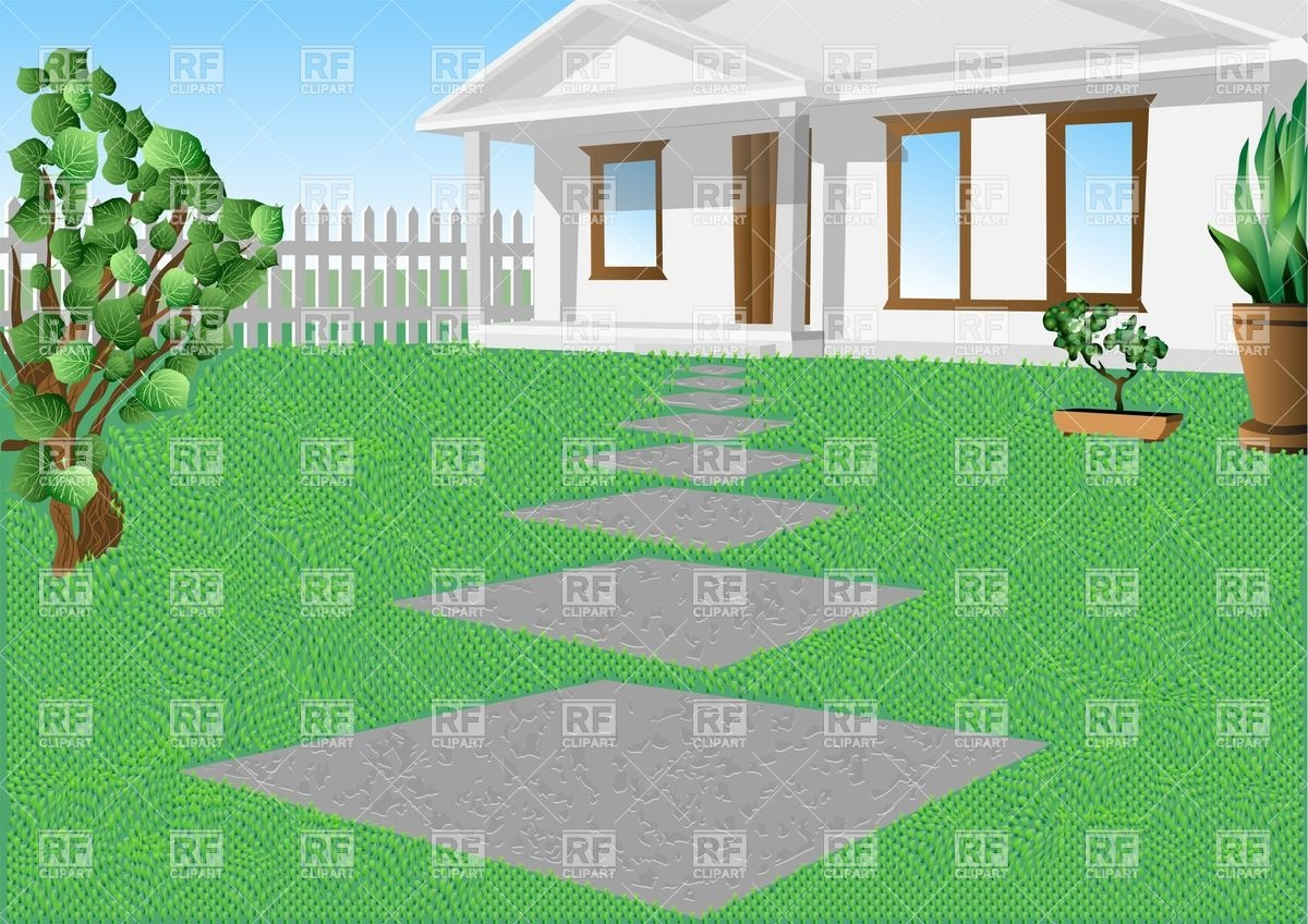 Lawn Architecture Buildings Download Royalty Free Vector Clip Art