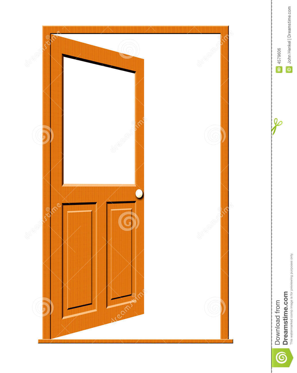 Open Door Clipart Open Wood Door Blank Window 4579606 Jpg
