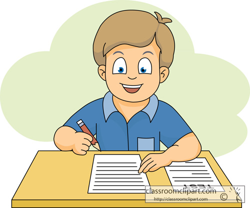 School   Student Taking A Test 116   Classroom Clipart