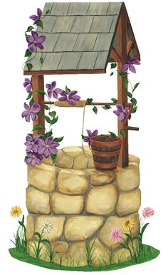 Wishing Well Clipart On Pinterest   Vintage Gifts Outdoor Fountains