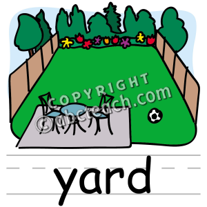 Yard Clip Art Clip Art  Basic Words  Yard  Yard Clipart