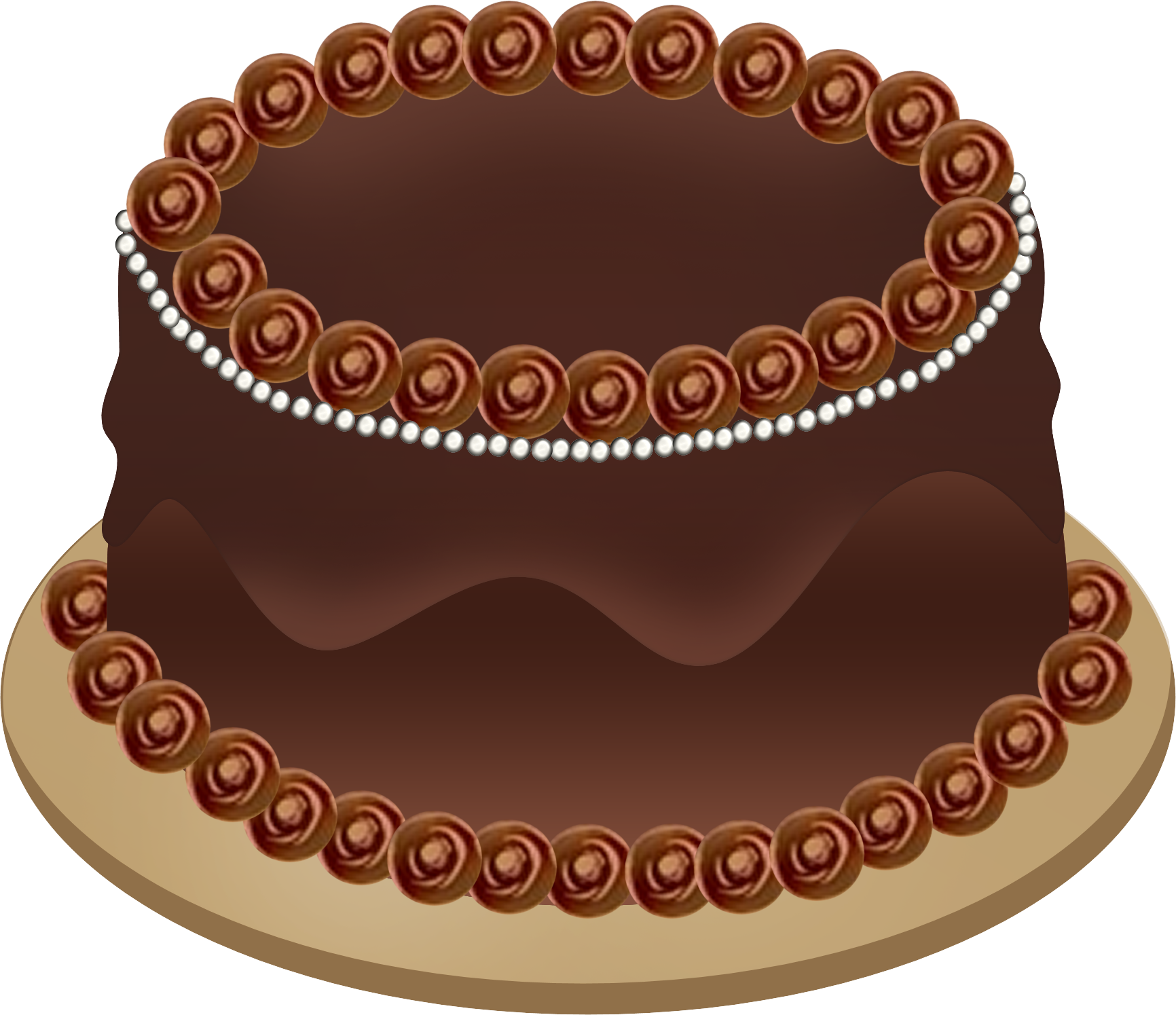 An Illustrated Birthday Cake Graphic  Click The Image To View And