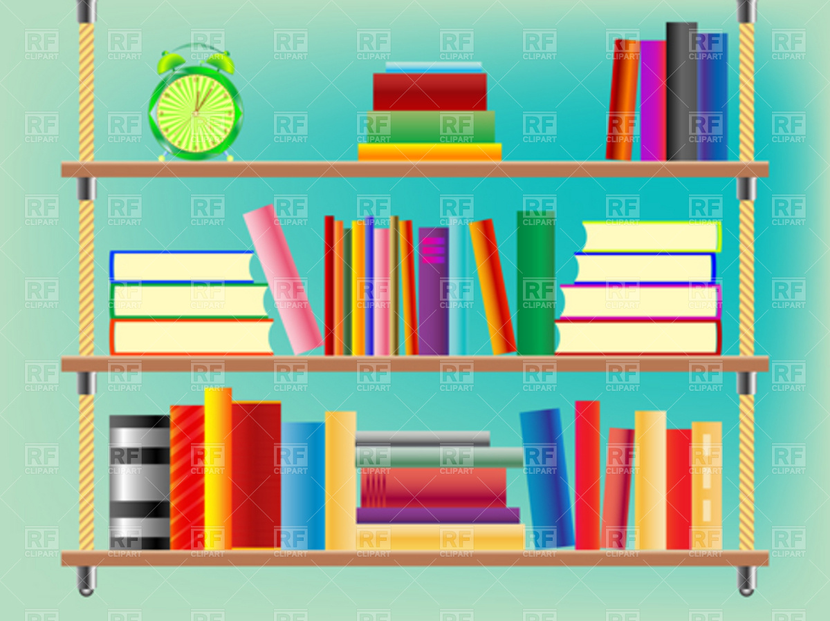 Bookshelf Books Clipart Clipart Suggest