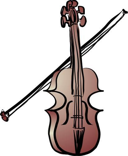 how to draw a cartoon violin