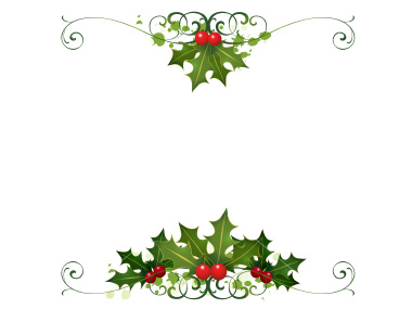 Cool Wallpapers  Christmas Holly Border