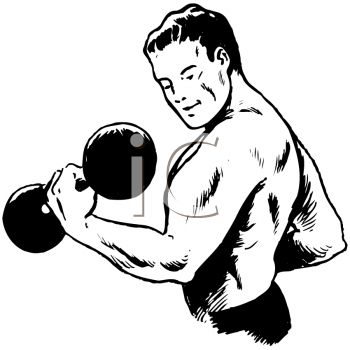 Dumbbell Bicep Curls Clip Art