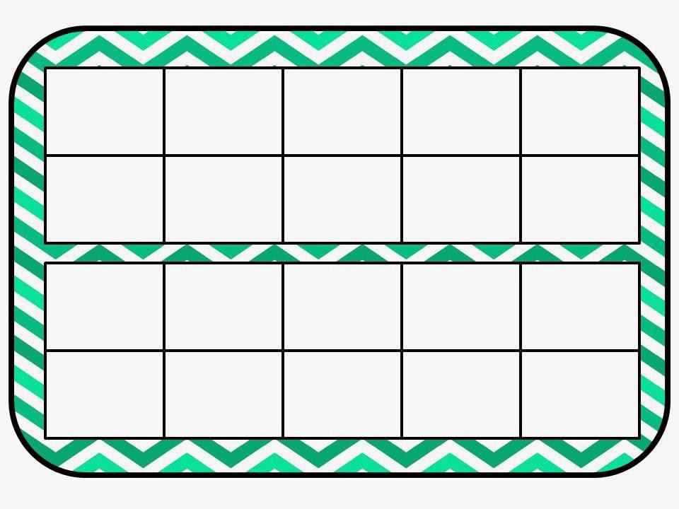 empty ten frame clip art double ten frame mat