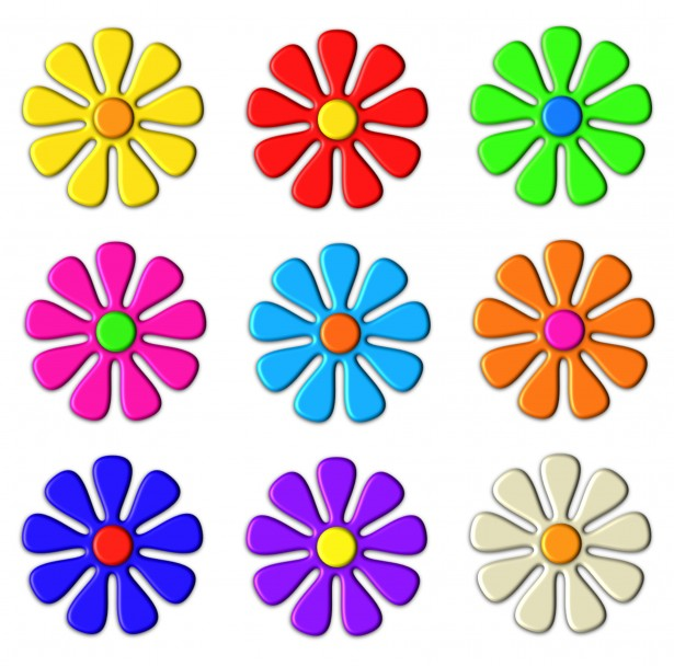 Hippie Flowers Clipart - Clipart Kid