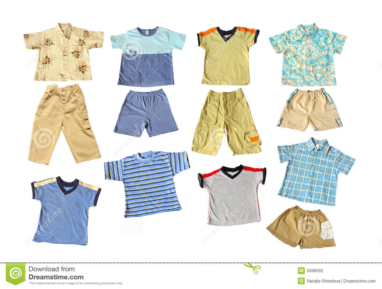 Kids Summer Clothes Clipart