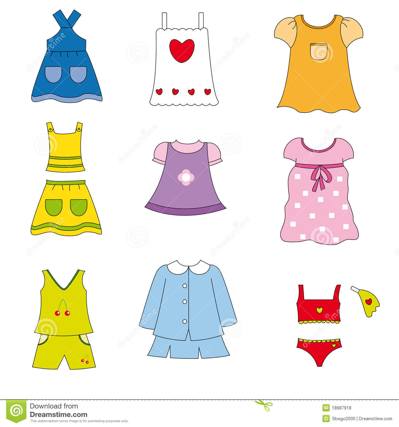 Summer Clothes Clipart - Clipart Suggest
