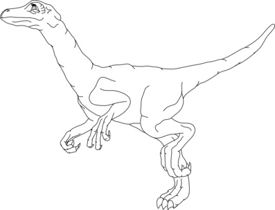 Raptor Colouring Pages