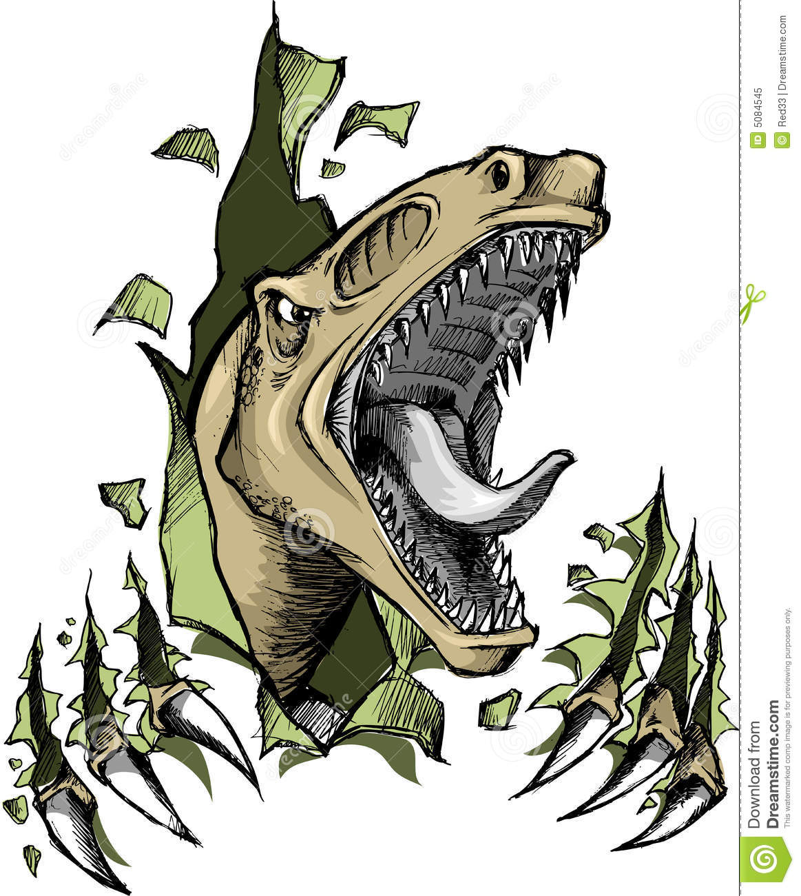 Raptor Dinosaur Vector Royalty Free Stock Photo   Image  5084545