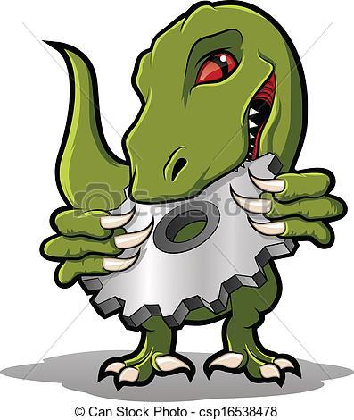 Raptor Mascota Morder Metal    Csp16538478   Buscar Clipart