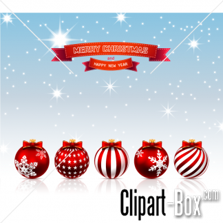 Related Christmas Balls Card Cliparts