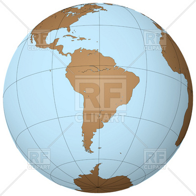 South America Outline On Earth 12030 Download Royalty Free Vector