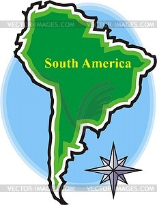 South America   Vector Clipart