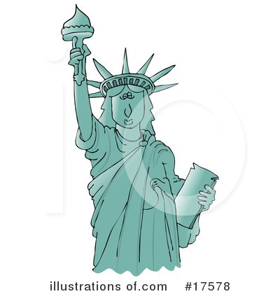 Statue Of Liberty Clipart  17578 By Djart   Royalty Free  Rf  Stock