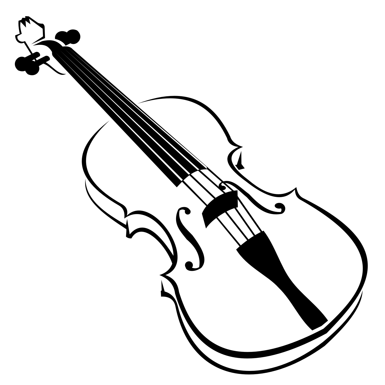 Vector For Free Use  Violin Vector