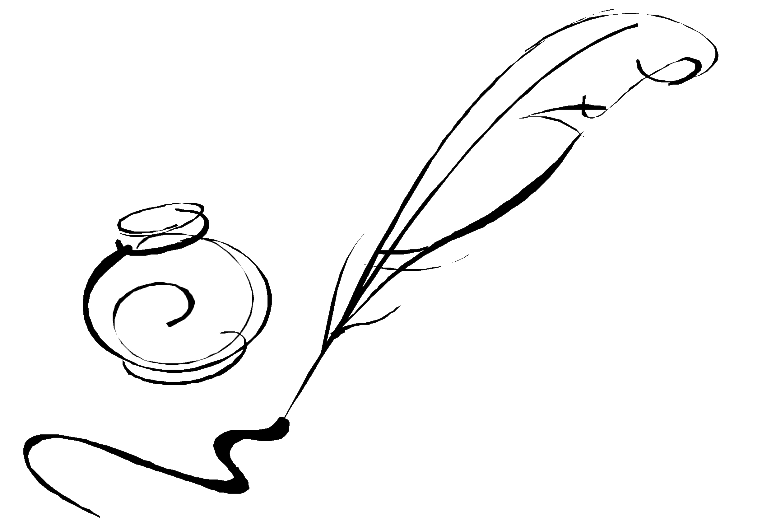 Quill And Inkwell Drawing Inkwell And Qui...