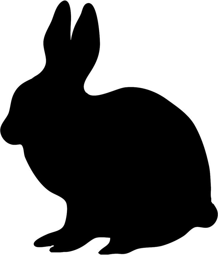 clipart image bunny silhouette - photo #22