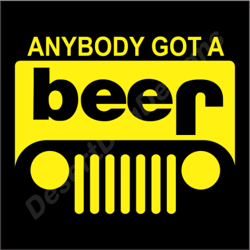Anybody Got A Beer  Reworked Jeep Logo