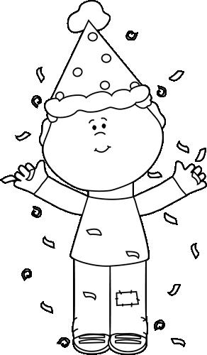 Black And White Confetti Clipart