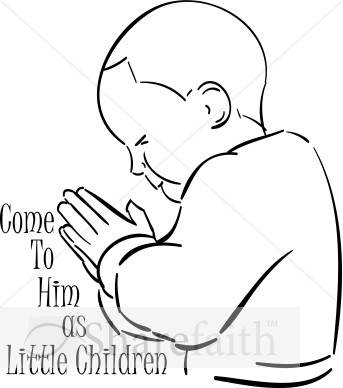 Come As Little Child Praying   Prayer Clipart