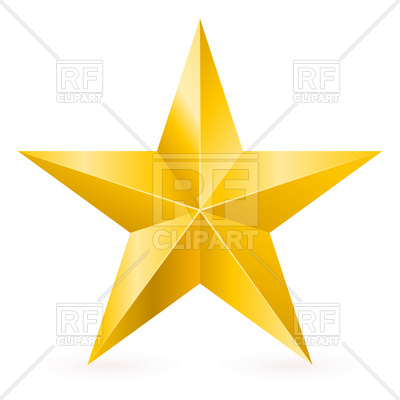 Five Point Star With Facets Download Royalty Free Vector Clipart  Eps