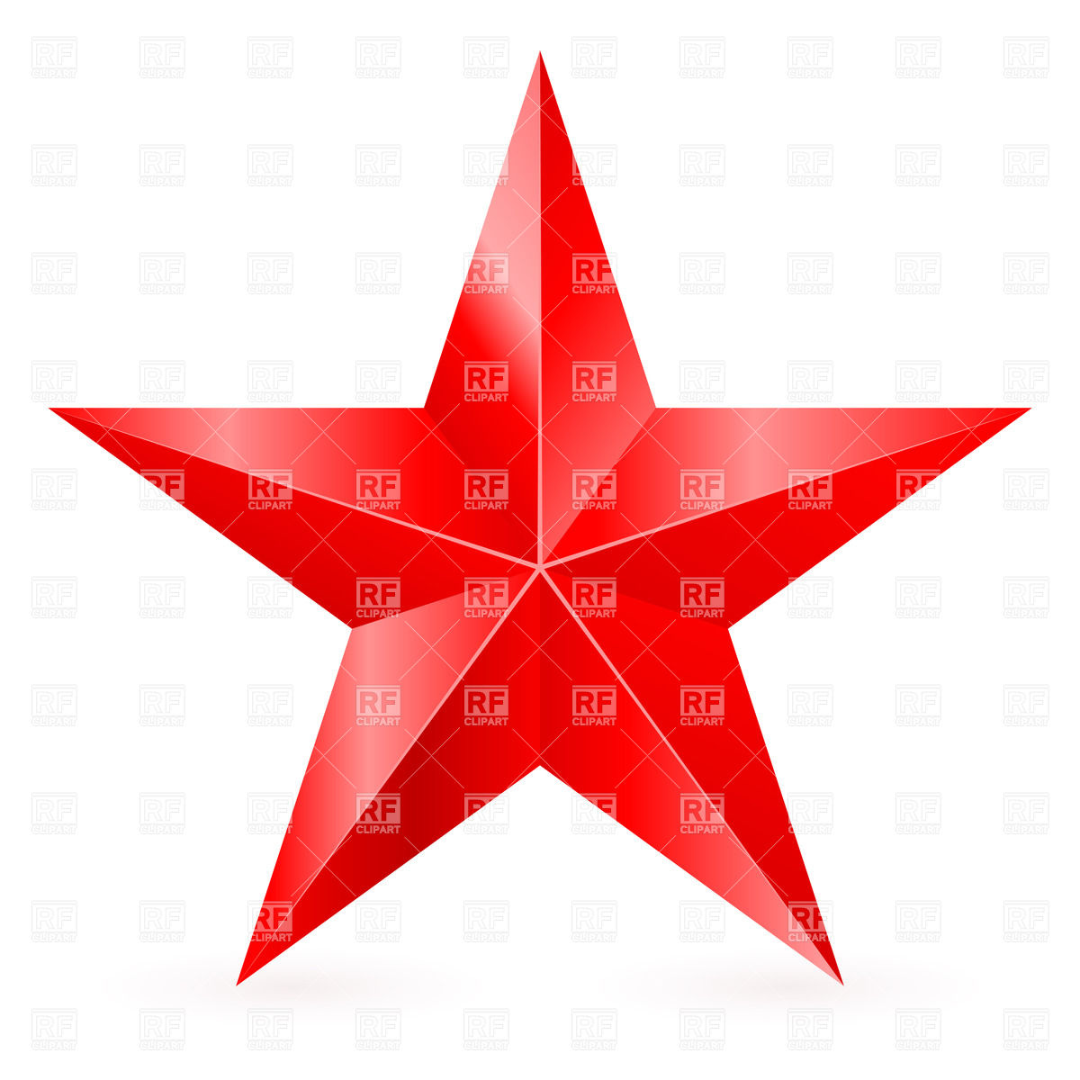 Five Pointed Red Star Download Royalty Free Vector Clipart  Eps