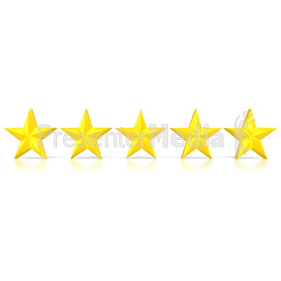 Image result for photo of five stars in a row