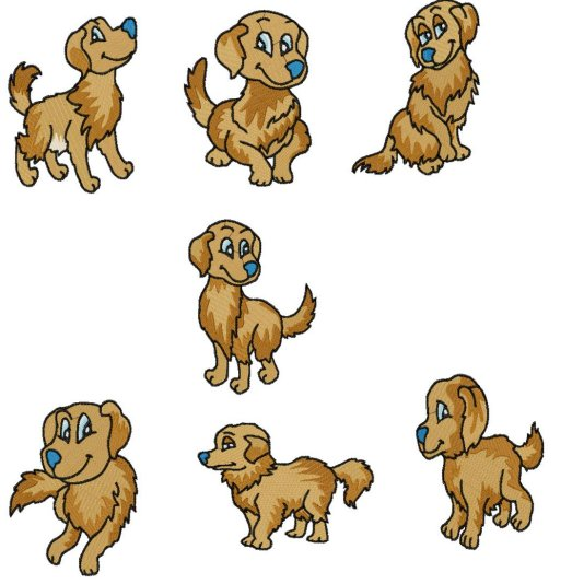 Golden Retriever    20 00   Sharsations Embroidery Your Embroidery