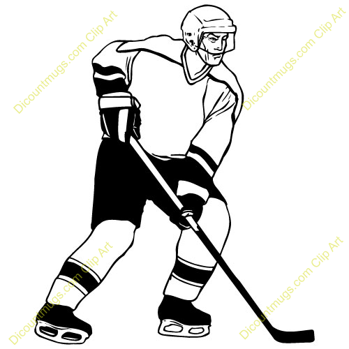 Clip Art Hockey Player Clipart hockey player clipart kid shot helmet mask