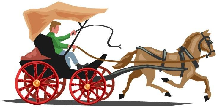 Horse Carriage Clipart Horse And Carriage Clipart