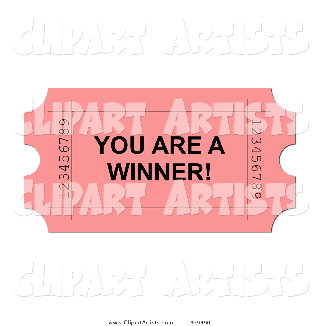 Larger Preview  Raffle Ticket Clipart By Oboy
