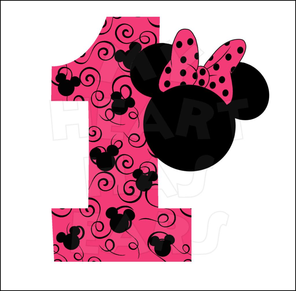 Minnie Mouse 1st Birthday: Minnie 1st Birthday Clipart