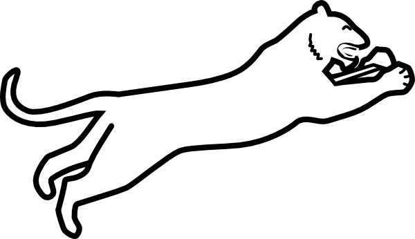 cougar silhouette clipart clipart suggest Cougar Paw Dog cougar paw print clipart