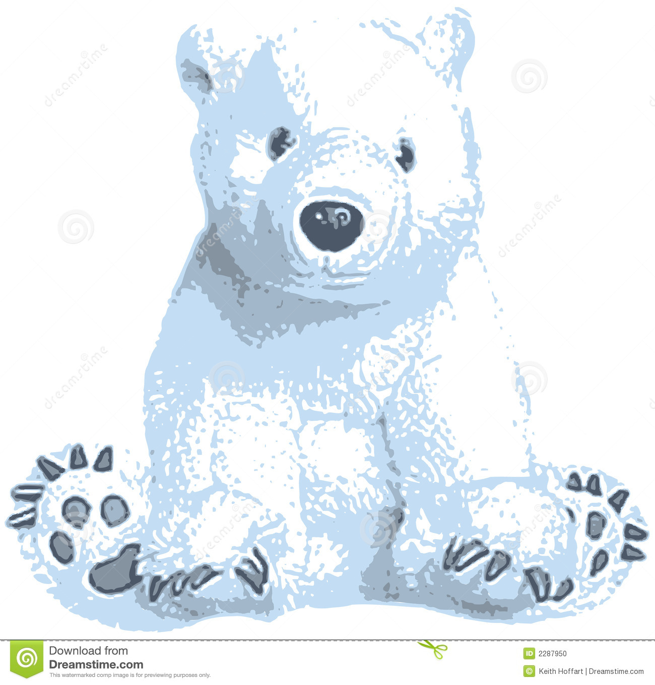 Polar Bear Clip Art Design Illustration For Use In Web And Print Jobs
