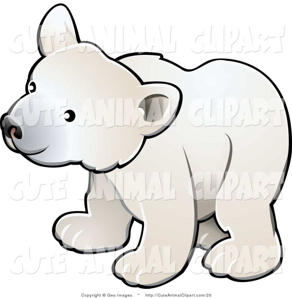 Polar Bear Clip Art Vector Clip Art Of A Cute Polar Bear Cub By Geo