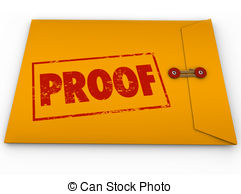 Proof Word Yellow Envelope Verification Evidence Testimony Drawing