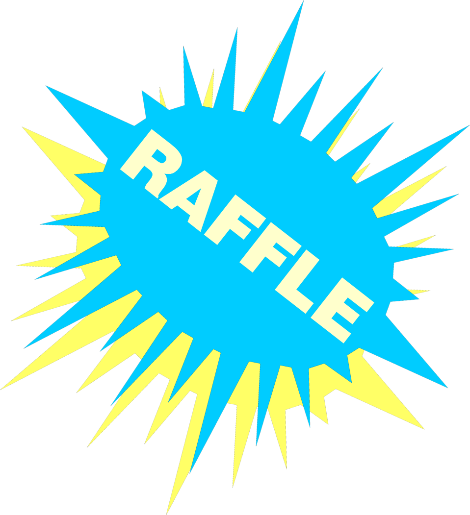 Raffle   Free Stock Photo   Illustration Of A Blue And Yellow Raffle