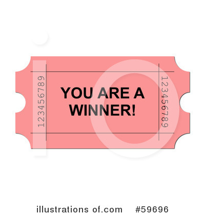 Royalty Free  Rf  Raffle Ticket Clipart Illustration By Oboy   Stock