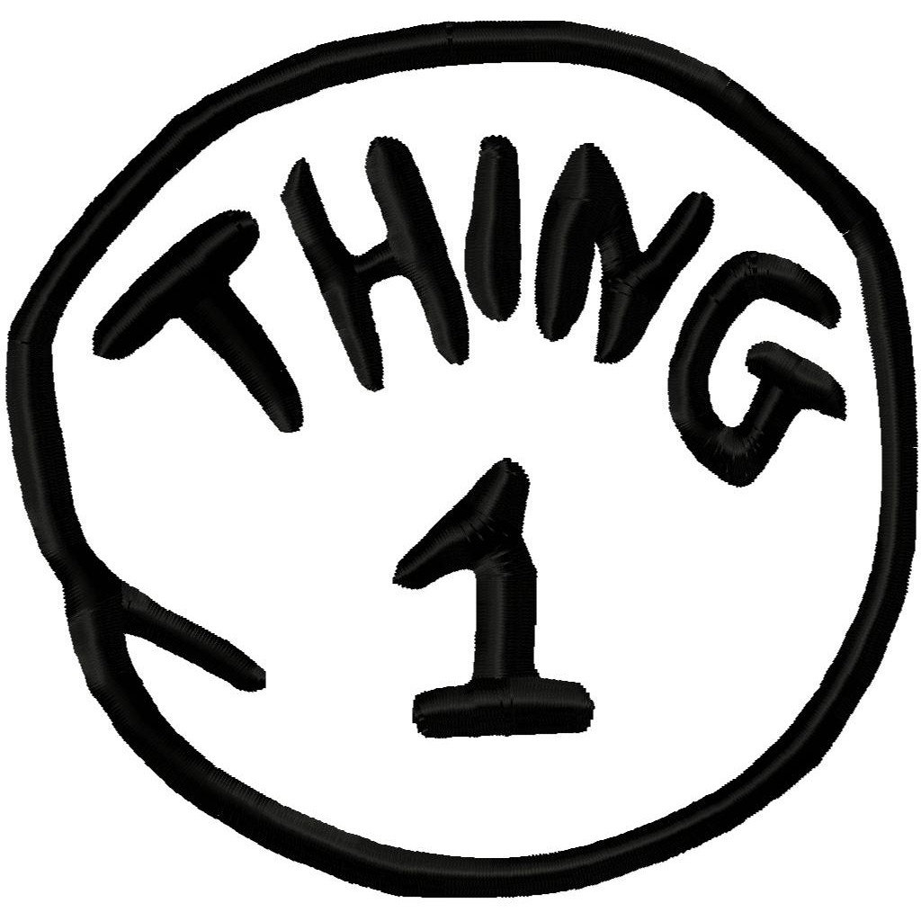 Thing 1 And 2 Logo Clipart   Free Clip Art Images