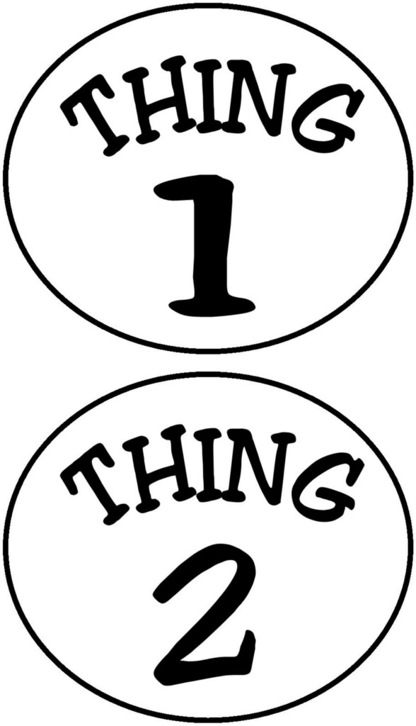 Thing 1 And Thing 2 Circles Iron On Transfer Auctions   Buy And Sell