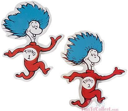 Thing 1 And Thing 2 Clip Art And To Think That I Saw It On