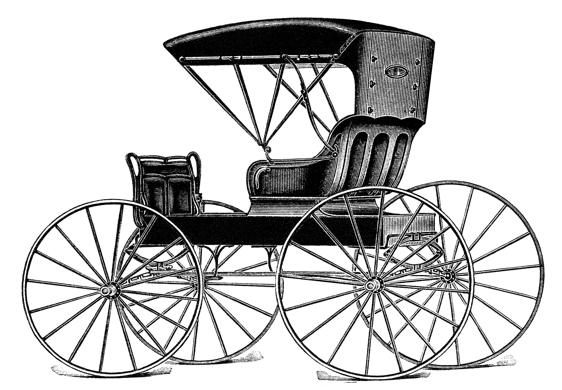 Vintage Horse Buggy Clip Art Black And White Clipart Antique Horse