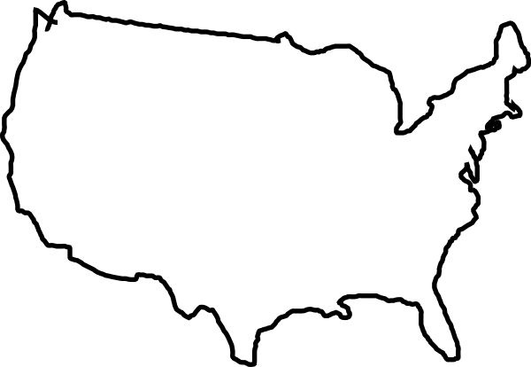 White Map Usa Clip Art At Clker Com   Vector Clip Art Online Royalty