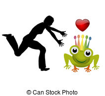 Catching The Prince Frog   Humorous Concept Sign Of A Woman