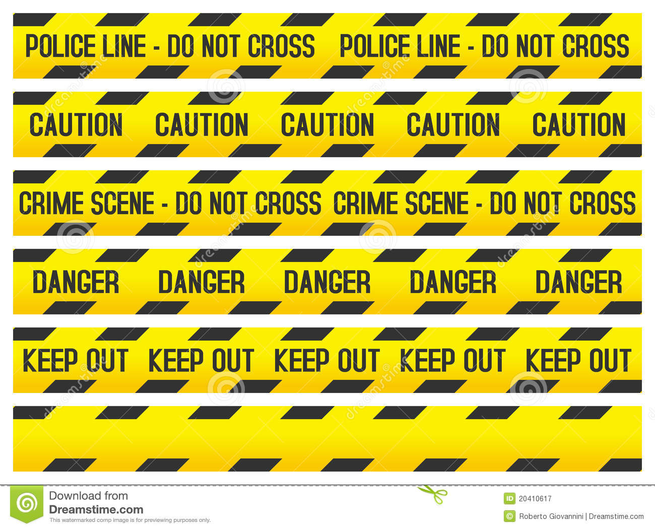 Crime Scene And Police Tapes Royalty Free Stock Photography   Image